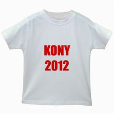 Kony 2012 Red Kids White T-Shirt