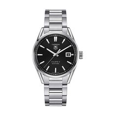 Tag Heuer Gents Carrera Calibre 5 Automatic Black Dial Watch: £1,850.00