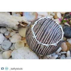 """#Repost @_saltysouls  """"Crystal Clear"""" anklet 