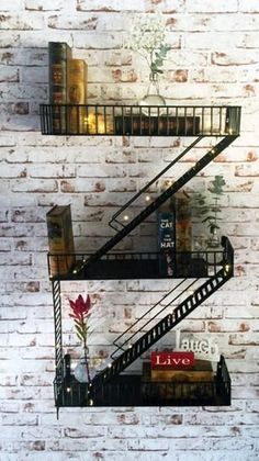 Wall Shelves. Classic Look for the Ultimate Industrial Vintage Theme Design. Extra large with practical sized shelves, suitable for Home Decor. Make a Statement with this masterpiece. Functions well as display shelf. In Stock Now.