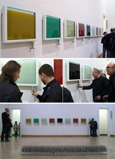 Access Agency's 'Drink Away The Art exhibition - At an exhibit in Dresden, Germany, guests were invited to drink away the art. These beautiful multicolored liquor infusions not only add a splash of color to the decor (pun intended), but also are a perfect example of culinary interactivity within the event setting.