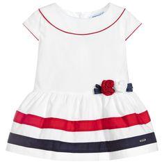 Mayoral Girls White Sailor Dress at Childrensalon.com