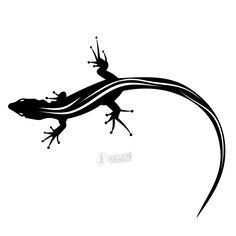 Silhouette Animal Black & White Lizard, Vector by Free Vector License: Totally Free (No license) ID: Sun Tattoos, Black Tattoos, Body Art Tattoos, Bird Shoulder Tattoos, Lizard Tattoo, Blackwork, Indian Folk Art, Vector Photo, Silhouette Vector