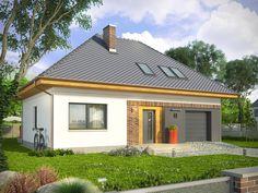 RELAKS - projekt nowoczesnego domu z dachem kopertowym. Studio Krajobrazy. Gazebo, Shed, Relax, Loft, Outdoor Structures, House Design, Outdoor Decor, Studio, Home Decor