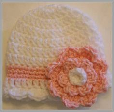 Baby Flower Hat Crochet Pattern ... Instant Download