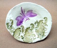 Ceramic Dragonfly Trinket Bowl by dgordon on Etsy, $12.00