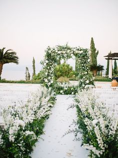 Olive Grove Wedding at Anassa Resort in Paphos with fairy lights on olives and white green flowers Olive Green Weddings, Olive Wedding, Emerald Green Weddings, Cyprus Wedding Venues, Wedding Vendors, Green Wedding Decorations, Wedding Ceremony Decorations, Wedding Ideas, Paphos
