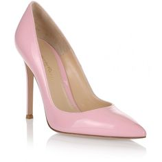 Gianvito Rossi Gianvito patent pink pump ($348) ❤ liked on Polyvore featuring shoes, pumps, pink, pointed toe stilettos, high heel shoes, pink shoes, pink pumps and pointed toe pumps