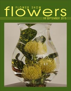 Flower Show FLOWERS 08 SEPTEMBER 2015… A Year in Flowers PLANT LIST: Croton foliage and Leucospermum Underwater Floral Design