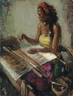 Lee Man Fong, weaving