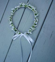 AmoreBride Bridal Flower Crown in Cream artificial by AmoreBride