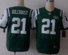Men's New York Jets #21 Marcus Gilchrist Nike Green Elite Jersey