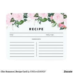 Chic Romance   Recipe Card