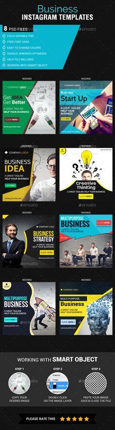 Business Instagram Banner Ads Design Templates - Banners & Ads Web Elements Instagram Banner Template PSD. Download here: https://graphicriver.net/item/business-instagram-templates/17740011?s_rank=16&ref=yinkira