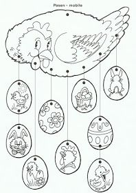 61 Trendy craft for kids spring coloring pages Spring Coloring Pages, Easter Coloring Pages, Coloring Book Pages, Easter Arts And Crafts, Spring Crafts, Chicken Crafts, Diy Ostern, Easter Bunny, Easter Eggs
