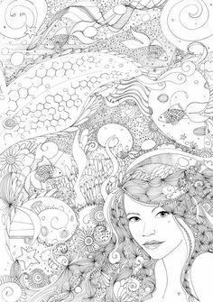 Doodle Coloring pages colouring adult detailed advanced printable Kleuren voor volwassenen coloriage pour adulte anti-stress kleurplaat voor volwassenen Line Art Black and White http://hannahchapman.deviantart.com/art/Mesmer-438647474