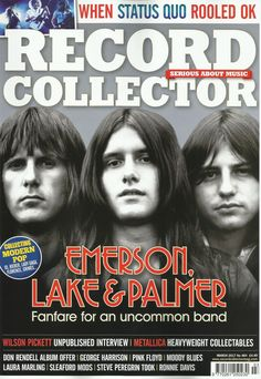 Emerson Lake & Palmer Record Collector March 2017