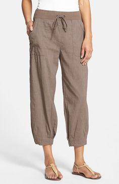 Eileen Fisher Slouchy Stretch Linen Capri Pants | Nordstrom