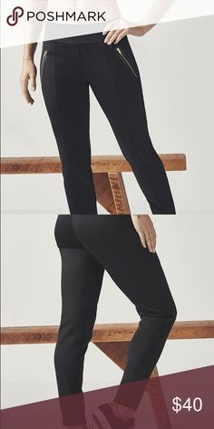 "Fabletics Anzu Treggings size small New with tags, cute but fit looser than i was looking for. From fabletics website- ""You never knew how much your legs loved neoprene until now! These ultra-stylish treggings?part trouser, part legging?are both sophisticated and sporty with a mock fly and bonded zipper pockets."" Fabletics Pants Leggings"