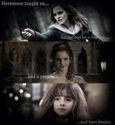 harry potter, princess, and hermione -🙌 Saga Harry Potter, Harry Potter Jokes, Harry Potter Characters, Harry Potter Universal, Harry Potter World, Harry Potter Movie Quotes, Hogwarts, Slytherin, Severus Hermione