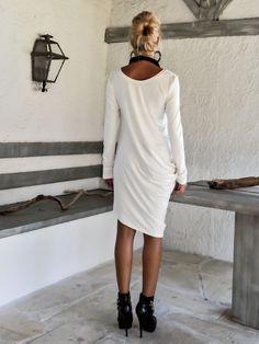 Ivory+Asymmetric+Blouse+Tunic+/+#35106