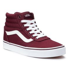 Shop Women's Vans Red size Sneakers at a discounted price at Poshmark. Description: Step up your comfort and style with these women's Ward Hi skate shoes from Vans. This pair has been worn 1 time! Tenis Vans, Vans Sneakers, Sneakers Fashion, High Top Sneakers, Women's Vans, Ladies Sneakers, Gucci Sneakers, Women's Shoes, Skate Shoes