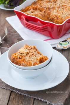 Cheesy Baked Spaghetti - Danielle Walker's Against all Grain