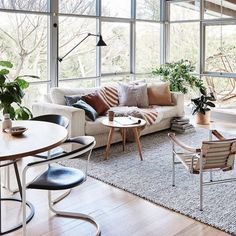 This creative couple saw past the pine-lined walls and old carpet in their beach house. Take a tour of its transformation into a designer family home. Living Room Colors, Living Room Decor, Living Spaces, Living Rooms, Living Area, Interior Stylist, Interior Design, Family Room, Home And Family