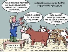 Marine Le Pen au Salon de l'Agriculture 2015