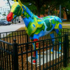 Painted pony.  Ocala, Florida old town square