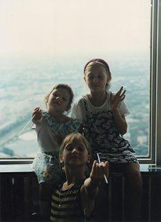 Lyubs, Masha and Dasha in Moscow 1997