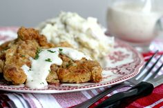 With a Grateful Prayer and a Thankful Heart: Country Fried Chicken Thighs Chicken Mashed Potatoes, Potatoes In Oven, Creamy Mashed Potatoes, Fried Chicken Thigh Recipes, Country Fried Chicken, Chicken Recipes, Grateful Prayer, Thankful Heart, Boneless Chicken Thighs