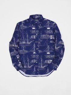 Gitman Vintage Nautical Shirt Navy