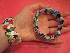 Remember those Gum Wrapper Chains??  Well look what you can do with them now!!!  And the best part is you can use what ever you want...OR you can actually chew all the gum yourself!! :)