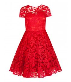 Love this red lace dress, beautiful!