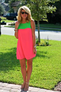 Just Dandy by Danielle: Outfit | Pink Green Skittles