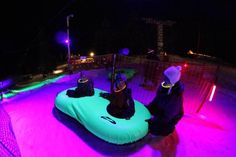 Cosmic Tubing at Mt. Hood Skibowl is even cooler this year with more flood, laser and black lights, as well as a live DJ spinning tunes! www.skibowl.com