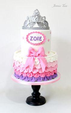 Princess Zoie's 3rd Birthday - Cake by Joonie Tan