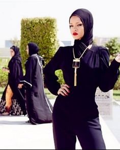 Images from the photo shoot that had Rihanna ejected from a mosque in Abu Dhabi.
