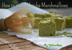 How to Make Matcha Marshmallows - A new obsession of mine.... green tea antioxidants, gelatin and honey make these delicious and antioxidant rich treats :-)   #yum #recipe #matcha