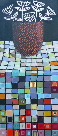 OrangeDotOnSquares by cate edwards, via Flickr