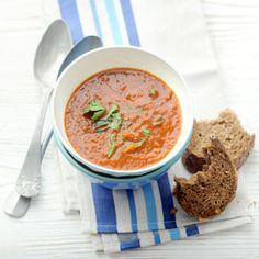Tomaten-groentesoep Grain Free, Dairy Free, Good Food, Yummy Food, Soup Recipes, Veggies, Healthy Eating, Tasty, Lunch