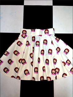 TAILORED SKATER SKIRT FT. #OMIGHTY SASSY EMOJI GIRL PRINT SLIGHT STRETCHZIPPER CLOSUREFIT AND FLAREALL OVER PRINTS