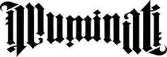 """Illuminati ambigram by John Langdon, designed for Dan Brown's book """"Angels & Demons"""""""