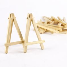 10pcs Mini Wood Artist Easel Wedding Table Number Place Name Card Stand Display Holder: Amazon.co.uk: Kitchen & Home
