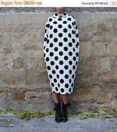 ON 25 % SALE Maxi dress/ Polka dots dress/ by cherryblossomsdress