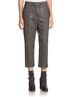 Brunello Cucinelli Textured Cropped Pants