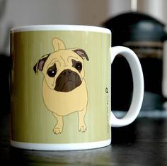pug mug by now we are here | notonthehighstreet.com