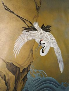 Oriental Crane (I also created a stencil of this.)