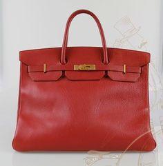 Hermes Birkin 40cm Togo Leather Tote in Red
